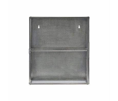 Housedoctor Armoire verre métallique gris zinc 35x15x40cm