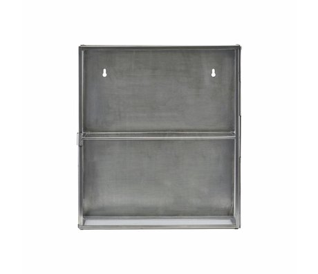 Housedoctor Wall cabinet zinc gray metal glass 35x15x40cm