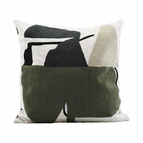 Housedoctor Kissenbezug Art Mehrfarben Baumwolle 50x50cm