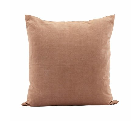Housedoctor Cushion cover Tria brown orange cotton 50x50cm