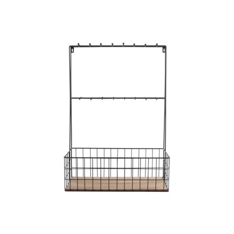 pt, Kitchen rack black metal 63x45x19cm