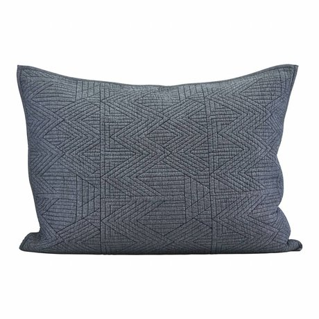 Housedoctor Cushion cover Tria blue cotton 80x60cm
