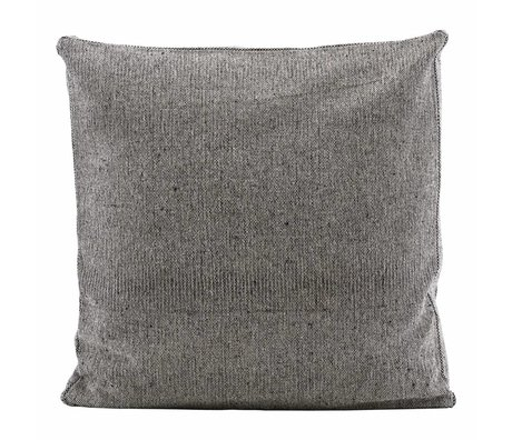 Housedoctor Box cushion cover Nist Water repellent gray cotton 55x55x5cm