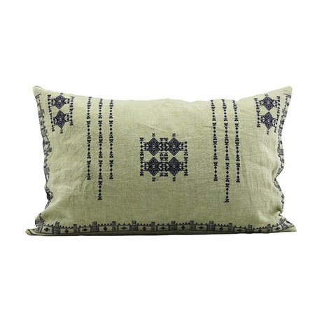 Housedoctor Cushion cover Inka green linen 40x60cm