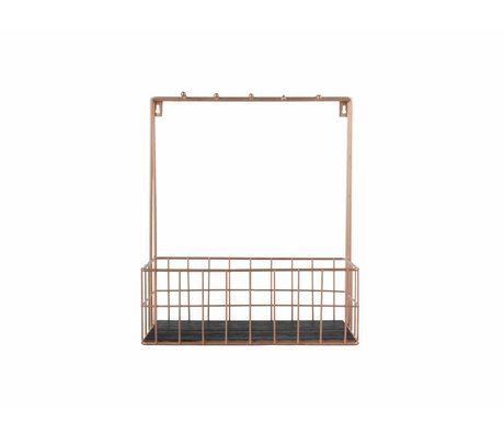 pt, Keukenrek koper metaal 36x30x15cm