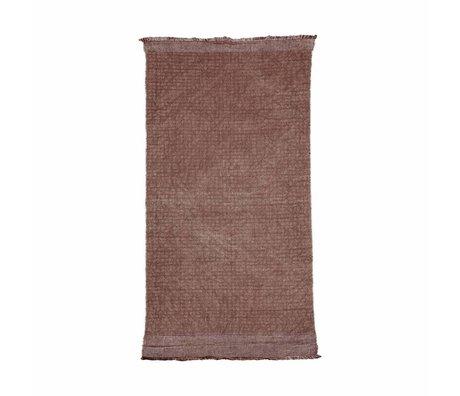 Housedoctor Teppich Shander Burnt Henna rot rosa Baumwolle, Jute 200x90cm