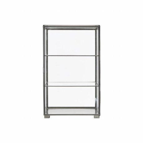 Housedoctor Cabinet cabinet sink gray iron glass 35x35x56.6cm