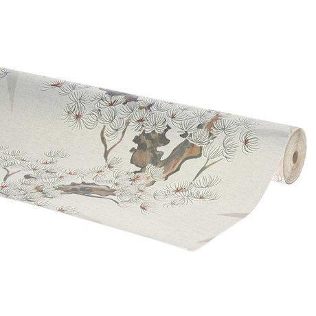 HK-living cerisier papier peint tissé multicolore papier peint 0,53x10,05m