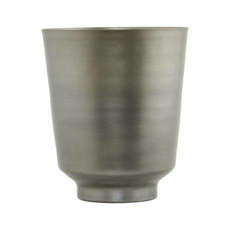 Housedoctor Flowerpot Oli fer argent Ø14,5x18cm