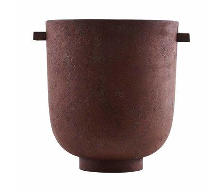 Housedoctor Flowerpot Foem burned red metal Ø25x28cm
