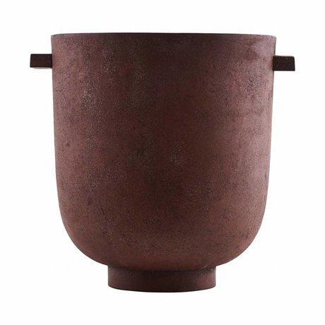 Housedoctor Pot Foem burned red metal Ø20x23cm