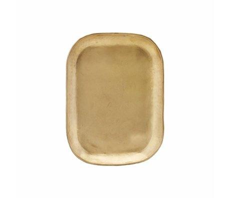Housedoctor Plateau en métal doré riche 26.5x19.5x1cm