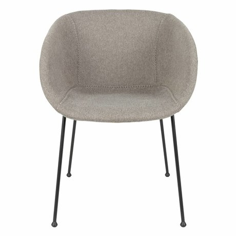 Zuiver Dining chair Feston Fab gray polyester 56,5x55x77cm