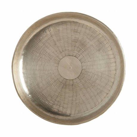 Housedoctor Bowl Carve gold metal Ø30cmx1.5cm