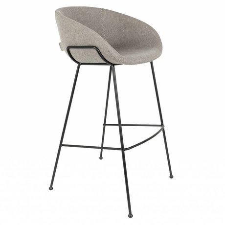 Zuiver Barkruk Feston grijs polyester 54,5x53x98,5cm