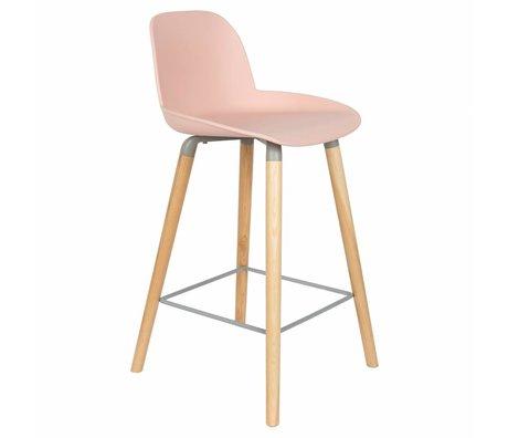 Zuiver Bark Press Albert Kuip Counter Pink Plastic Wood 45x47,5x89cm