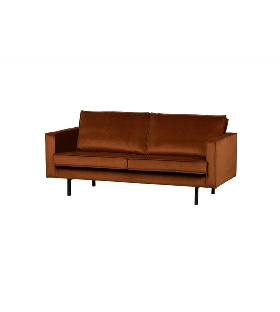 bepurehome bank rodeo 2,5 places velours velours orange rouille