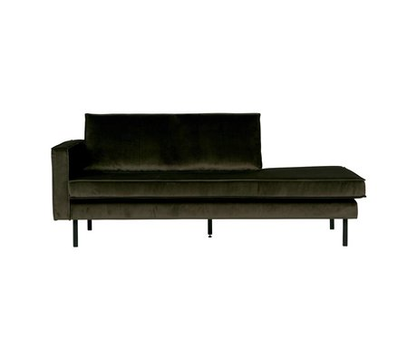 BePureHome Bank Daybed Rodeo Green Hunter links groen fluweel velvet 203x86x85cm