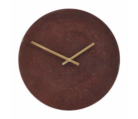 Housedoctor Clock InUse Red Aluminium Ø28cm
