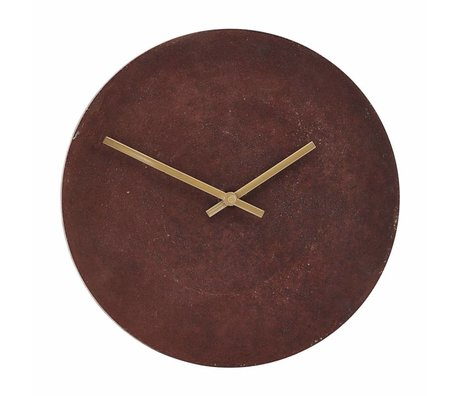 Housedoctor Clock Inuse Red Aluminum Ø28cm