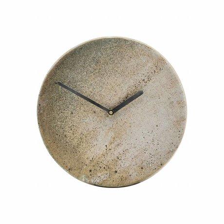 Housedoctor Horloge Metro en terre cuite brune Ø22cm