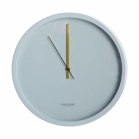Housedoctor Clock Clock Couture Gray Aluminum Ø30cm