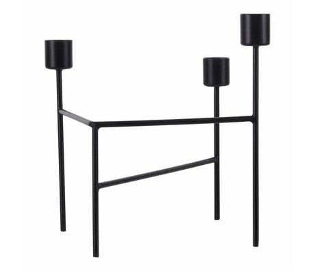 Housedoctor Candle stand Three matt black 15x13.5x18.5cm