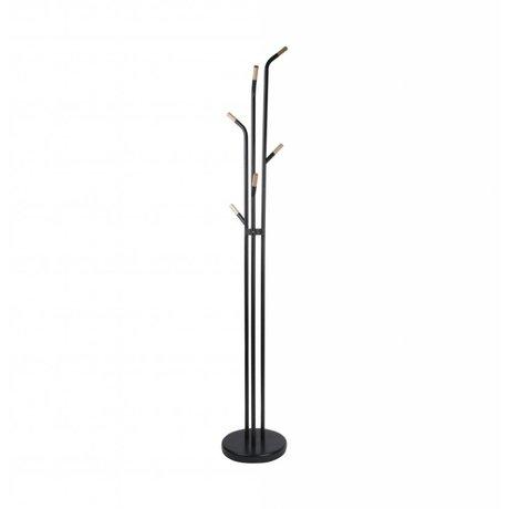 Leitmotiv Kapstok Fushion zwart staal 188x30cm