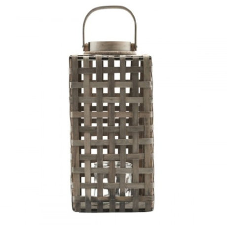 Housedoctor Lantern natural rattan glass metal 20x36cm