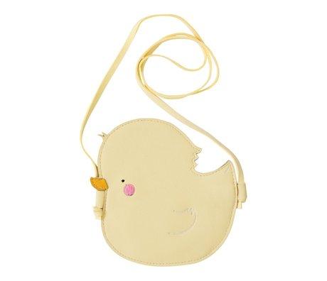 A Little Lovely Company Sac à bandoulière petit canard jaune 15x15x0.3cm acrylique