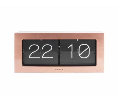 Karlsson Flip clock Boxed copper orange steel 17,5x37cm
