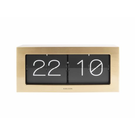 Karlsson Flip Clock acier or Boxed 17,5x37cm