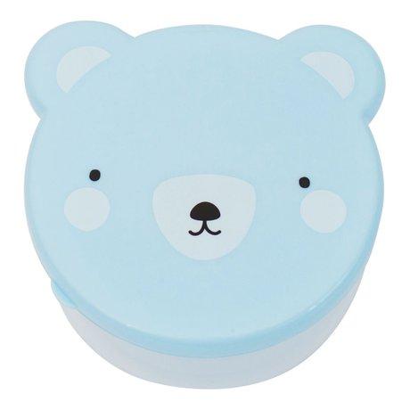 A Little Lovely Company Lunchbox collation boîte ours plastique bleu ensemble de 4