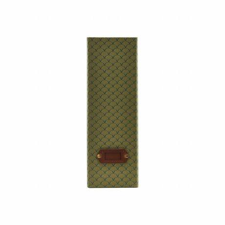 Housedoctor Organizer Fan green leather cardboard 10x24.5x30.5cm