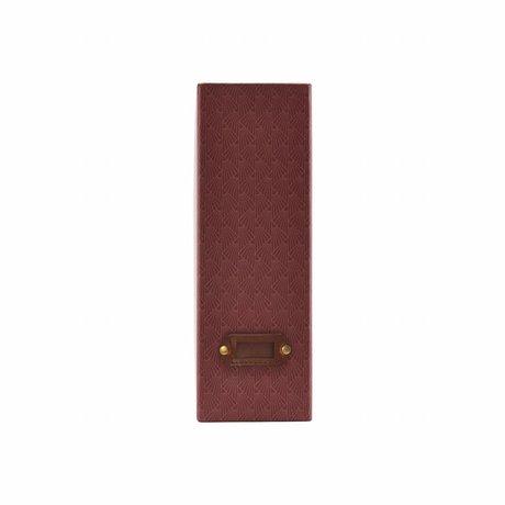 Housedoctor Organizer Fan red leather cardboard 10x24.5x30.5cm