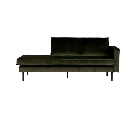 BePureHome Bank Daybed Rodeo Green Hunter rechts groen fluweel velvet 203x86x85cm