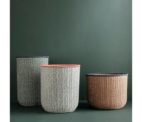 Ferm Living Ensemble de 3 papier tissé basketweave brun gris