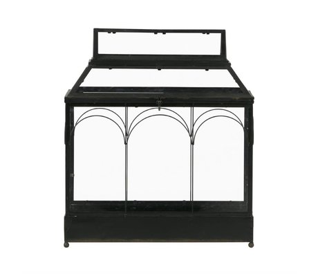 BePureHome Mini greenhouse Grow plant holder black metal 57,5x50x26,5cm