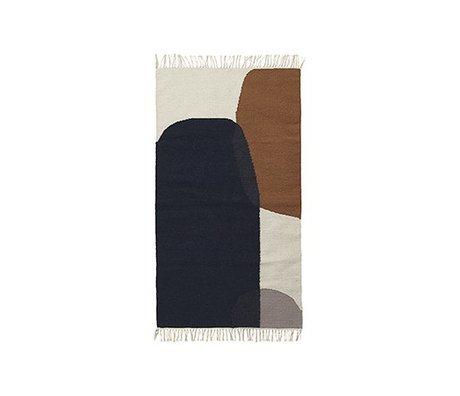 Ferm Living Teppich Merge Kelim Watte 80x140cm