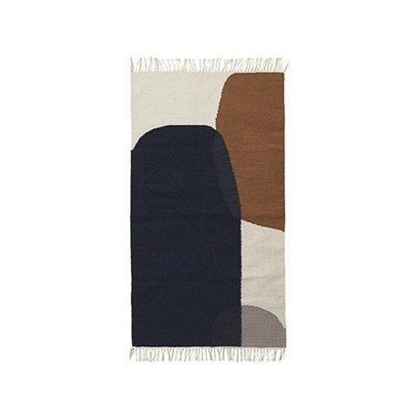 Ferm Living Tapis Merge kilim coton laine 80x140cm