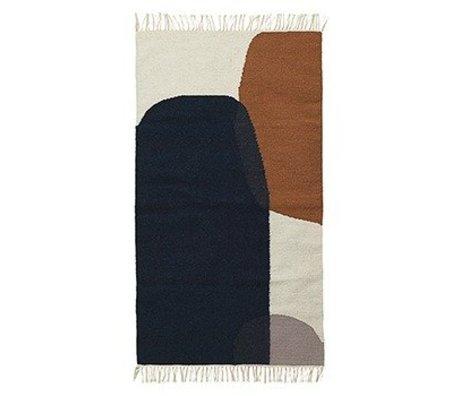 Ferm Living Vloerkleed Merge kelim katoen wol 140x200cm