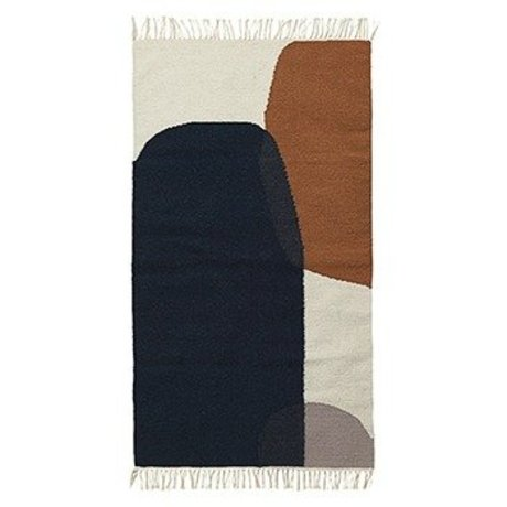 Ferm Living Rug Merge kilim cotton wool 140x200cm
