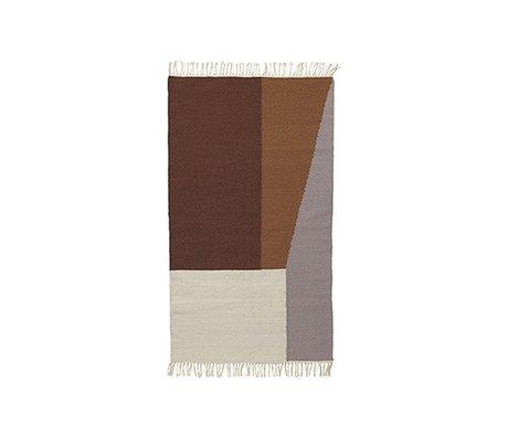 Ferm Living Tapis Borders kelim coton 80x140cm