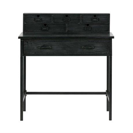 BePureHome Office Schreibtisch schwarz Metall 98x89x56cm