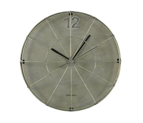 BePureHome Clock Spotlight gray iron 45x45x11cm