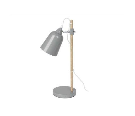 Leitmotiv Tafellamp Wood-Like grijs metaal ø12x14x48,5cm