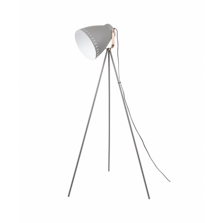 Leitmotiv Floor lamp Mingle gray metal Ø26,5 x145cm