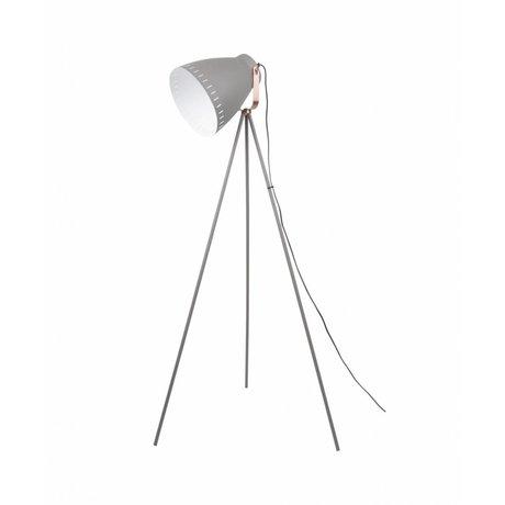 Leitmotiv Stehleuchte mischen graues Metall Ø26,5 x145cm
