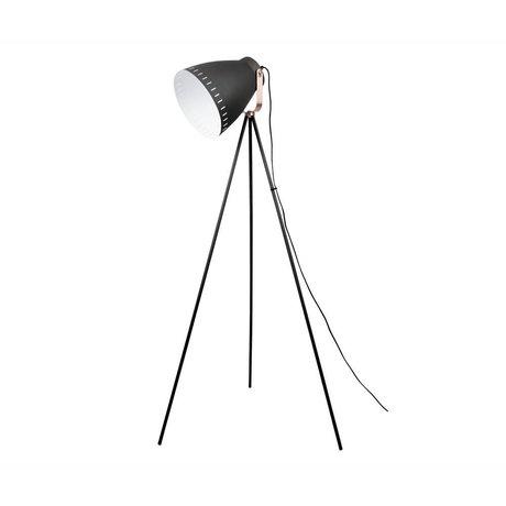 Leitmotiv Vloerlamp Mingle zwart metaal ø26,5x145cm