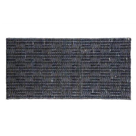 BePureHome Scènes tapis doux toile de jute noir 70x140cm